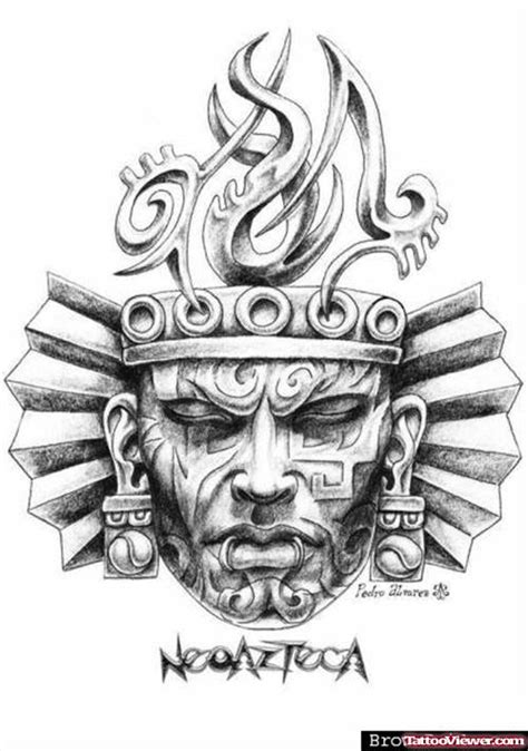 aztec head tattoo design tatouage azteque pinterest