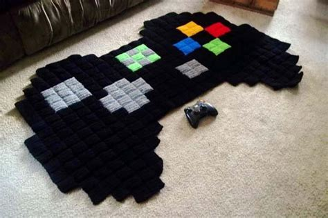 gamer rug the handmade 8 bit xbox controller rug gadgetsin