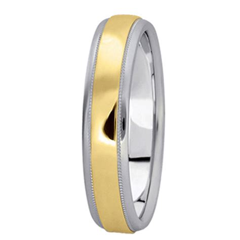 wedding band 4mm carved two tone wedding band 4mm allurez