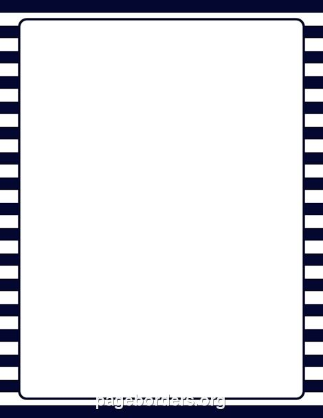 printable blue striped border use the border in printable navy and white striped border use the border in microsoft word or other programs for