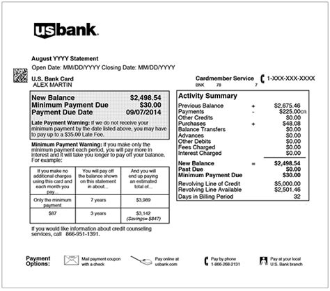 Usbank How To Read My Statement Us Bank Statement Template