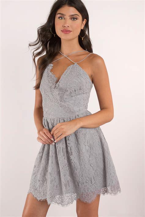 Dress Grey grey dress dusty dress grey skater dress grey