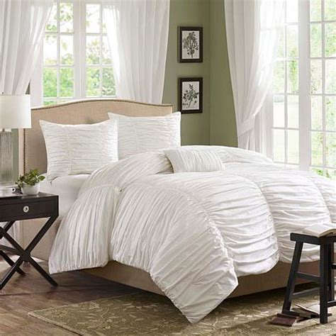 white twin comforter set madison park delancey bedding set white 10063820 hsn