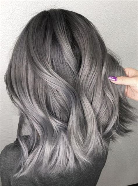 medium ash brown ombre hair color elle hairstyles dark ombre with ash highlights for medium hairstyles 2018