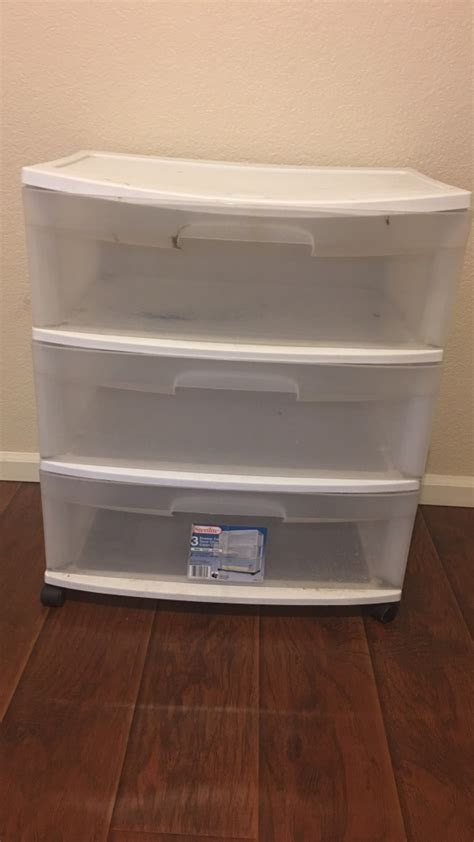 Clear Plastic Dresser by Letgo White Clear Plastic 3 Drawer Cabinet In Welby Co