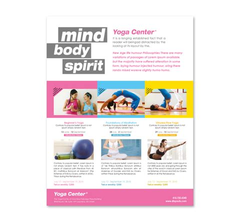 yoga instructor studio flyer template