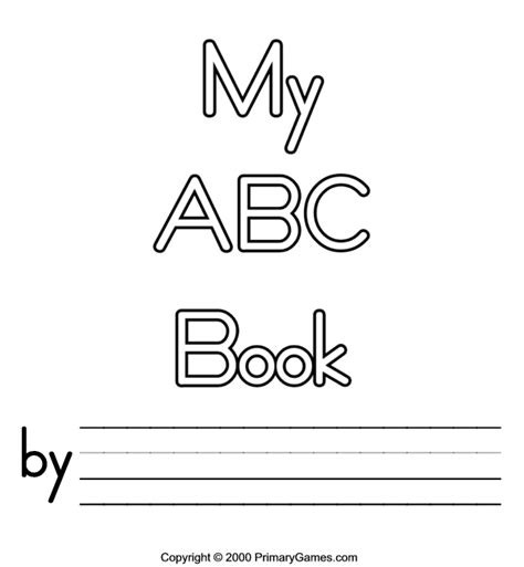 Free Printable Abc Book Covers Abc Coloring Pages Primarygames Com Free Printable Alphabet Book Template
