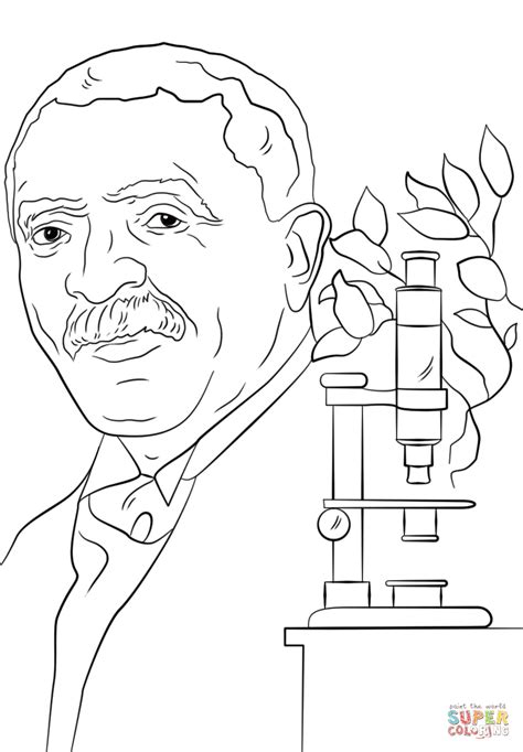 george washington carver coloring page az coloring pages