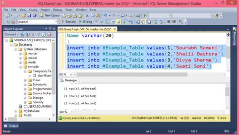 Sql Temporary Table Temporary Table In Sql Server