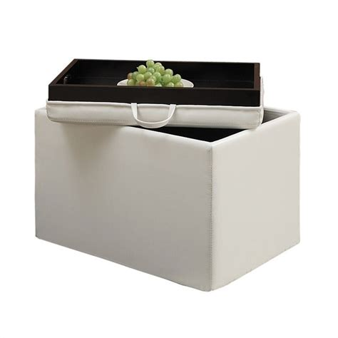 accent ottomans accent storage ottoman ivory 143523w