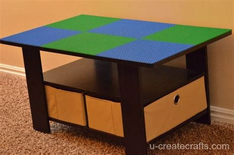 turn a coffee table into a lego table diy