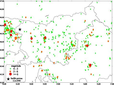 earthquake locations image slovenia earthquake earthquake locations