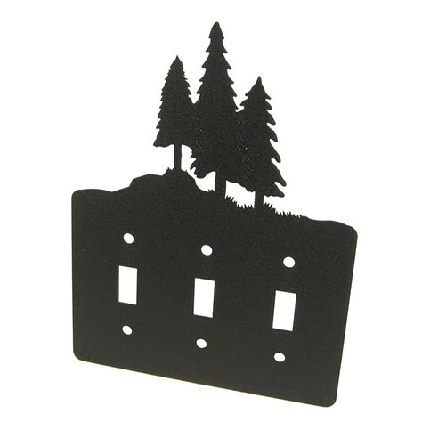 triple light switch cover 3 trees triple light switch plate cover