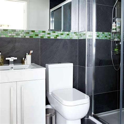 gray and green bathroom grey tiled bathroom decorating housetohome co uk