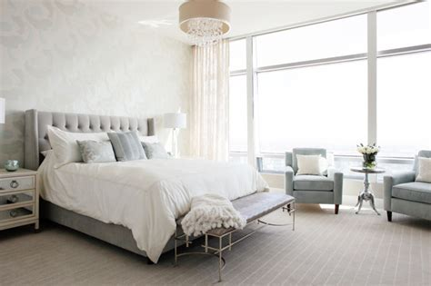 Bedroom Window Treatments Ideas modern glam luxury condo transitional bedroom other