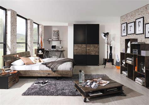 schlafzimmer vintage schlafzimmer in schwarz vintage optik braun