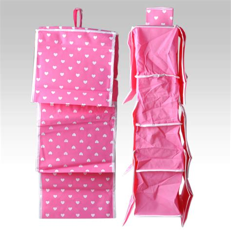 pink hanging closet organizer pink 10 pockets wardrobe hanging cloth holder rack