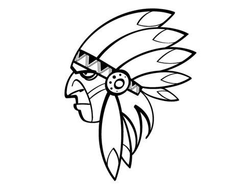 imagenes para dibujar indigenas dibujo de cara del indio jefe para colorear dibujos net