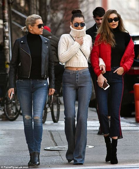 what type of jeans does yolanda foster wear yolanda hadid and model daughters gigi and bella take nyc