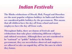 All Indian Festival Essay by Indian Cultural Diversity Festivals