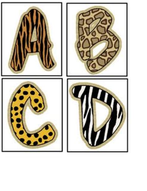 free printable jungle alphabet letters 17 best images about printable letters on pinterest