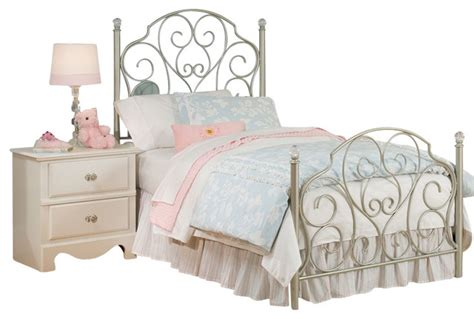 childrens twin bed standard furniture spring rose metal kids bed in white