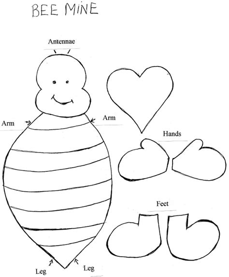 templates for valentine crafts