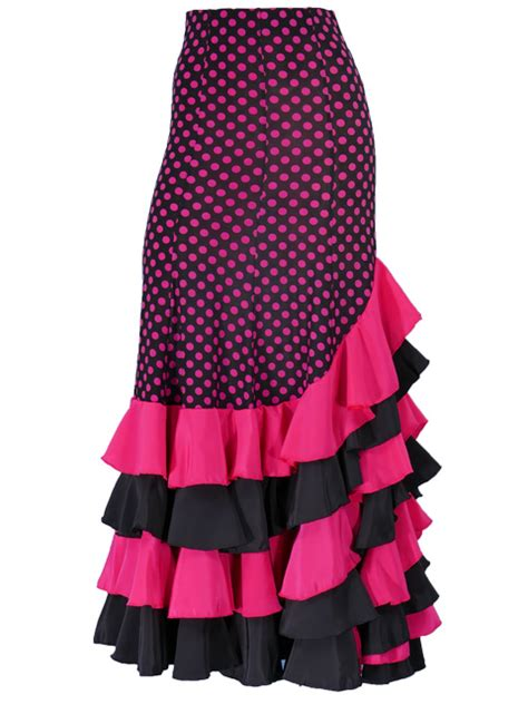 Mermaid Polka Skirt mermaid flamenco polka dots skirt with frills pink g1994pi flamenco mercado