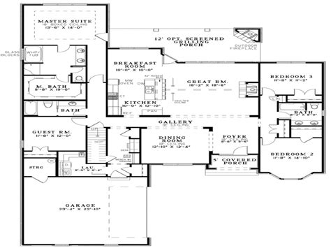 Single Home Floor Plans Single Story Open Floor Plans Open Floor Plan House