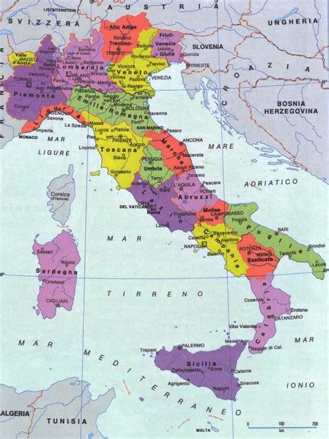 d itala cartina italia politica geografica provincia mappa immagini di