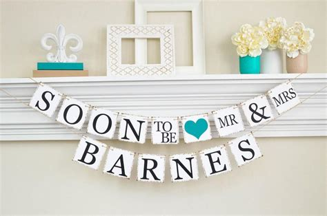 design engagement banner engagement party decor bridal shower soon to be banner