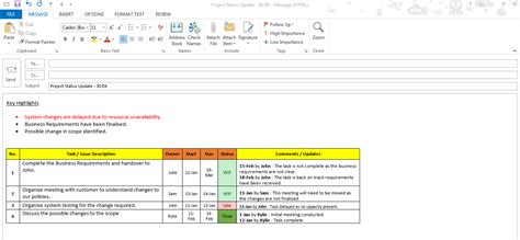 update email template excel task tracker template free downloads 6 sles