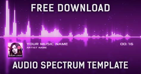 audio spectrum template audio spectrum visualizer after effects template free