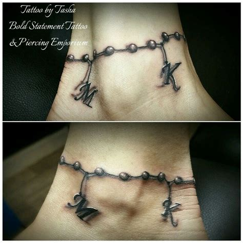 charm bracelet tattoo designs ankle 25 best ideas about ankle bracelet tattoos on