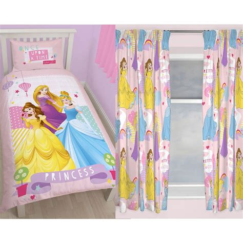 disney princess curtains and bedding disney princess bedroom range single duvet cover set