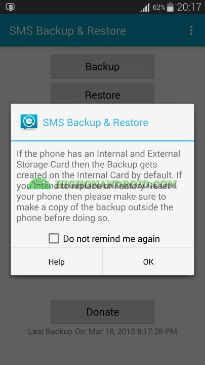 android backup text messages guide how to backup and restore sms on android no root required howto highonandroid