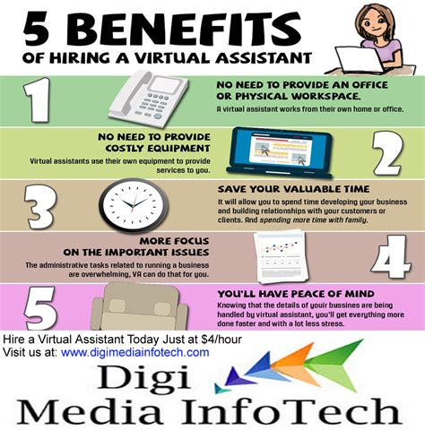 5 benefits of hiring a assistant infographic plane tax your partner to business