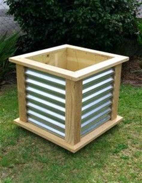 Corrugated Iron Planter Boxes by Foxes Hollow On Planter Boxes Planters And