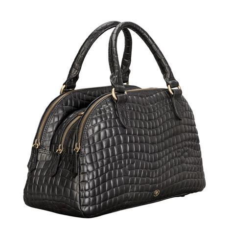 Croco Bag mock crocodile leather bowling bag liliana s croco by