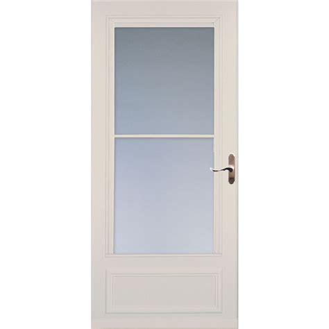Larson Screen Doors by Shop Larson Almond Mid View Tempered Glass