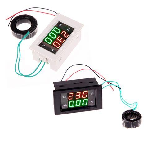 Best Quality Ac Digital Voltage Meter ac digital ammeter voltmeter lcd panel volt meter 100a 300v 110v 220v high quality in