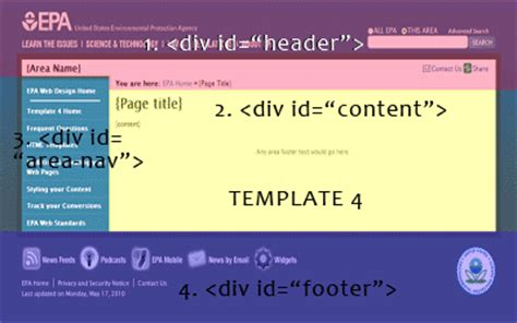 html layout specification epa web design specification epa web design us epa