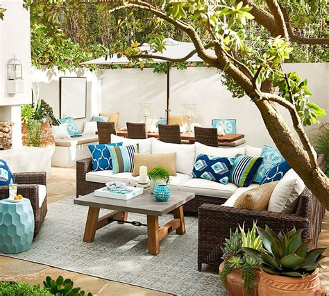 contemporary patio with exterior floors by pottery