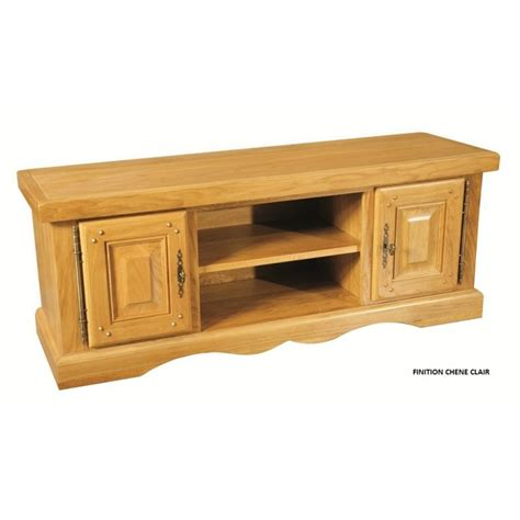 Beau Meuble D Appoint De Cuisine #4: meuble-tv-bas-2-portes-chene-clair-chene-massif-la-bresse.jpg