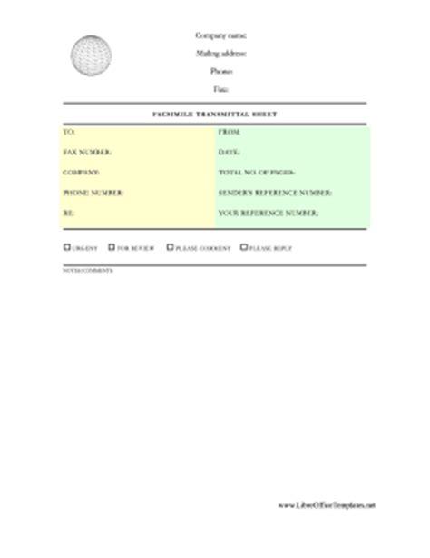 Memo Template Libreoffice Globe Professional Fax Sheet