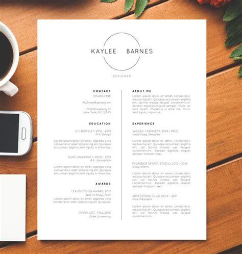 cv design minimalist professional resume template cv template simple resume