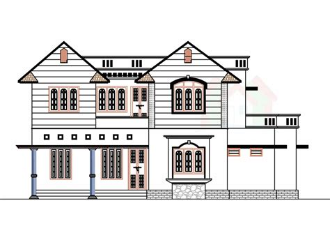house plans front view 2226 sq ft house design with kerala house plans