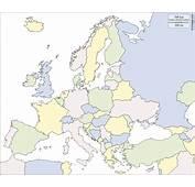 Europa Mapa Gratuito Mudo En Blanco