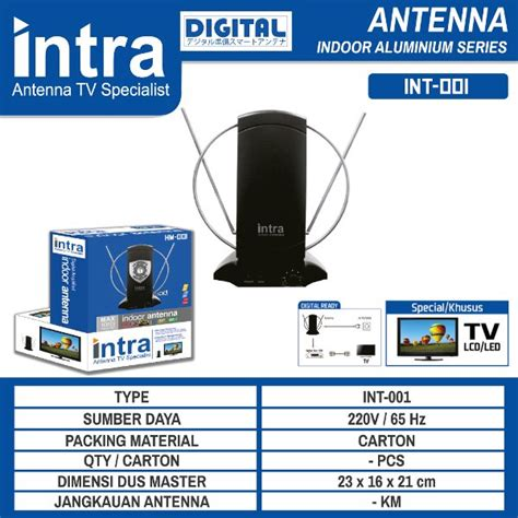 Jual Antena Tv Digital Kominfo jual beli antena tv indoor digital intra baru barang