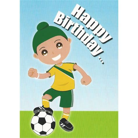 football themed birthday ecards happy birthday card singh football sikhistore